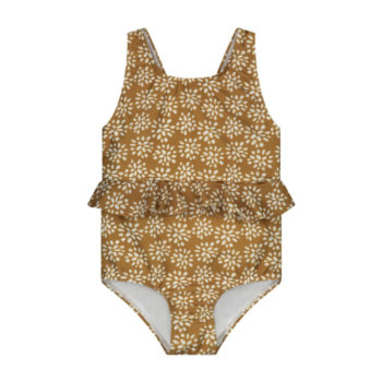 Daily Brat Abby painted flower swimsuit with UPF50+
