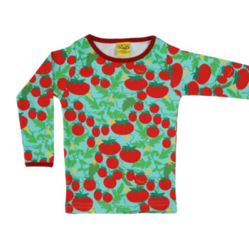 Duns longsleeve Growing tomatoes turquoise